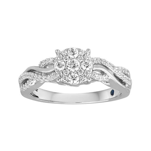 I Said Yes™ 3/8 CT. T.W. Diamond Halo Engagement Ring