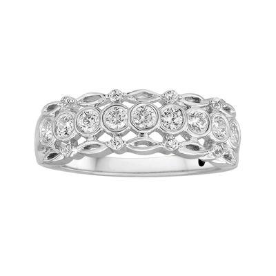 I Said Yes™ 1/2 CT. T.W. Diamond Bezel-Set Wedding Band - JCPenney