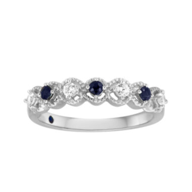 jcpenney.com | I Said Yes™ 1/6 CT. T.W. Diamond and Sapphire Ring