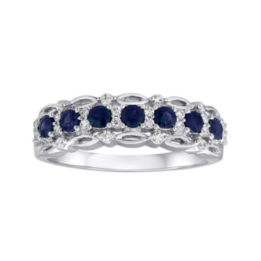 jcpenney.com | I Said Yes™ 1/6 CT. T.W. Diamond and SapphireRing