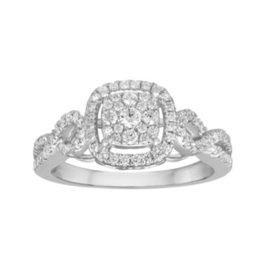 jcpenney.com | 1/2 CT. T.W. Diamond and Lab-Created Sapphire 10K White Gold Ring