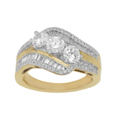 jcpenney.com | Love Lives Forever™ 1 1/2 CT. T.W. Diamond 10K Yellow Gold Bypass Ring