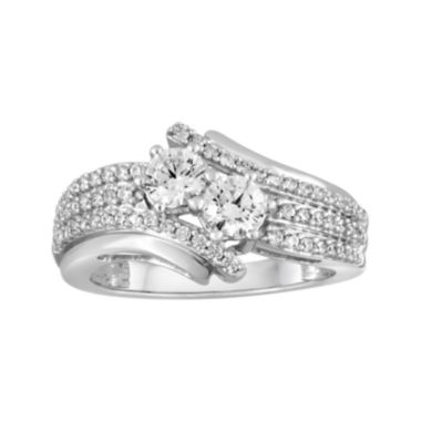 jcpenney.com | Two Forever™ 1 CT. T.W. Diamond 10K White Gold 2-Stone Ring