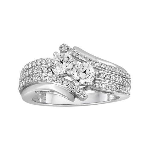 Two Forever™ 1 CT. T.W. Diamond 10K White Gold 2-Stone Ring