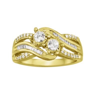 jcpenney.com | Two Forever™ 1/2 CT. T.W. Diamond 10K Yellow Gold Ring
