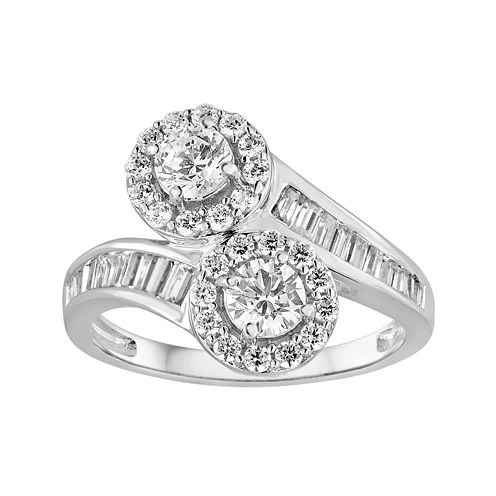 Two Forever™1 1/2 CT. T.W. Diamond 14K White Gold RIng