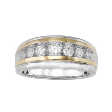 jcpenney.com | Mens 1 CT. T.W. Diamond 10K Two-Tone Gold Band Ring