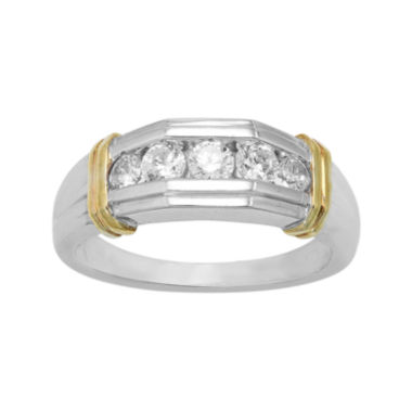 jcpenney.com | Mens 1/2 CT. T.W. Diamond 10K Two-Tone Gold Band Ring