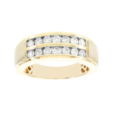 jcpenney.com | 1 CT. T.W Diamond 2-Row 10K Yellow Gold Mens Band