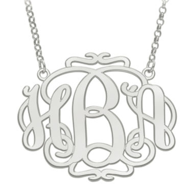 jcpenney.com | Personalized 31x39mm Scroll Monogram Necklace