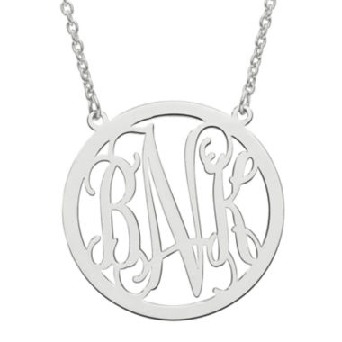 jcpenney.com | Personalized 26mm Circle Monogram Pendant Necklace