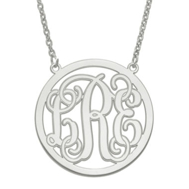 jcpenney.com | Personalized 32mm Circle Monogram Pendant Necklace