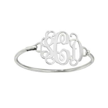 jcpenney.com | Sterling Silver Personalized Monogram Bangle Bracelet