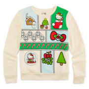 Hello Kitty® Holiday Long-Sleeve Sweater - Girls 7-16