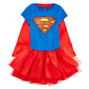 Supergirl Dress with Cape - Girls 7-16
