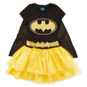 Batman Dress with Cape - Girls 7-16