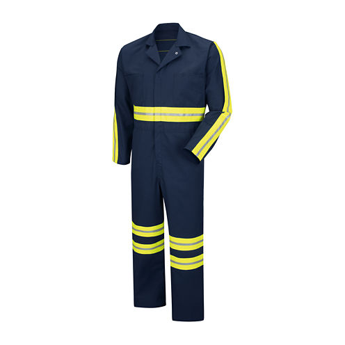 Red Kap® Enhanced-Visibility Action Back Coveralls - Big & Tall