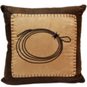 HiEnd Accents Barbwire Roped Square Decorative Pillow