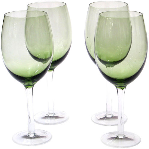 Certified International Set of 4 White Wine Glasses
