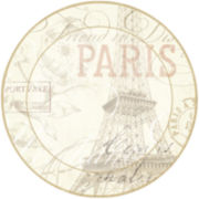 Studio Art® by Domay Eiffel Tower Set of 4 Round Placemats