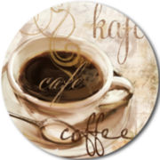 Studio Art® by Domay Cup O' Coffee Set of 4 Round Placemats