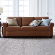 Leather Possibilities Roll-Arm Sofa + FREE SWATCH