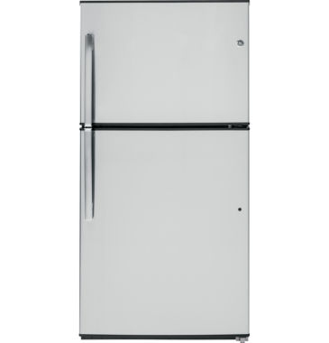 jcpenney.com | GE® ENERGY STAR® 21.2 Cu. Ft. Stainless Top-Freezer Refrigerator