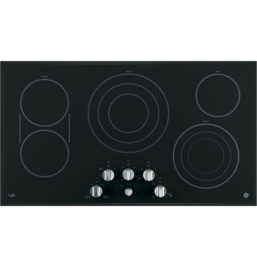 "jcpenney.com | GE Café ™  36"" Built-In Knob Control Electric Cooktop With 5 Elements"