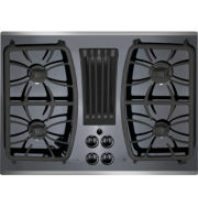 """GE Profile™  30"""" Built-In Gas Downdraft Cooktop With 4 Burners"""