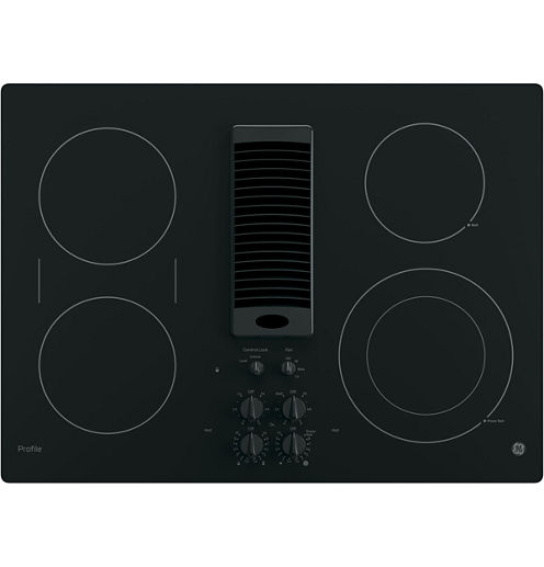 """GE Profile™  30"""" Downdraft Electric Cooktop With 4 Elements"""