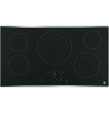 "jcpenney.com | GE® 36"" Built-In Knob Control Electric Cooktop With 5 Elements"