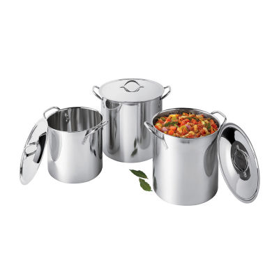 Cooks Stainless Steel 3 Pack Stockpot 101992, Color: Stainless Steel - JCPenney