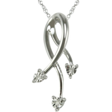 jcpenney.com | Diamond Accent Dangling Pendant Necklace 10K White Gold