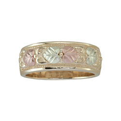 Womens Black Hills Gold Band Ring