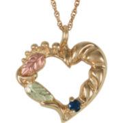 Black Hills Gold® Birthstone Family Heart Pendant 10K Gold Necklace