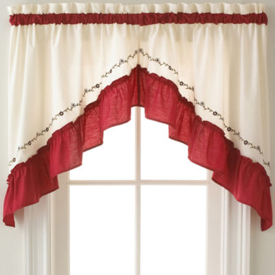 Blue Kitchen Curtains for Window - JCPenney