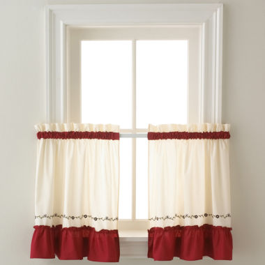 jcpenney.com | Jayden Two-Tone Rod-Pocket Window Tiers