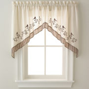 Birds Rod-Pocket Swag Valance