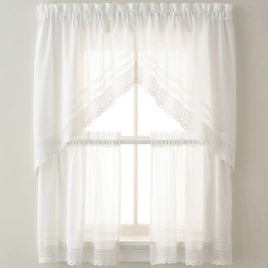 jcpenney.com | Crochet Kitchen Curtains