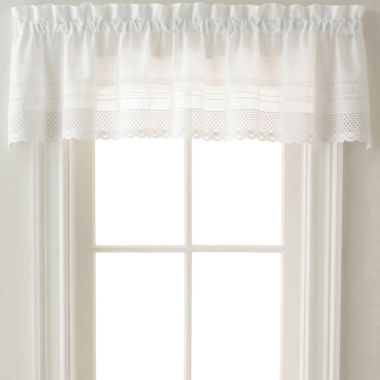 jcpenney.com | Crochet Rod-Pocket Tailored Valance