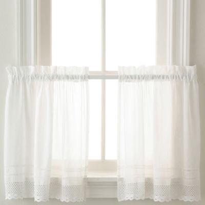 Crochet Rod-Pocket Window Tiers