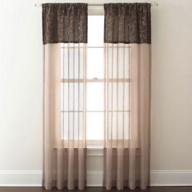 jcpenney.com | Westgate Two-Tone Sheer Rod-Pocket Curtain Panel