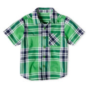 Okie Dokie® Plaid Woven Shirt - Boys 12m-6y