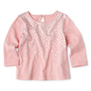 Joe Fresh™ Foil Top - Girls 3m-24m