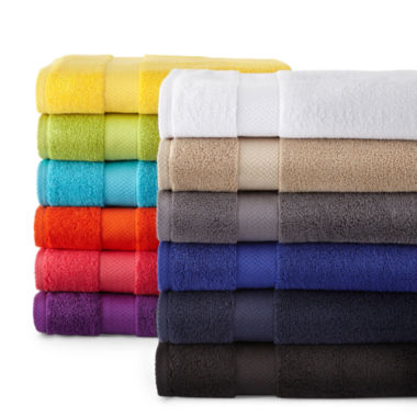 jcpenney.com | JCPenney Home™ Solid Bath Towels