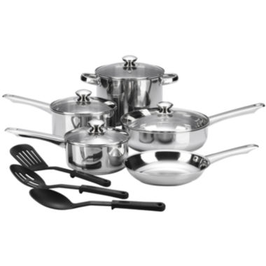 jcpenney.com | Cooks 12-pc. Essential Stainless Steel Cookware Set