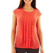 Worthington® Pleated-Front Top