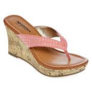 Arizona Caterina Cork Wedge Sandals