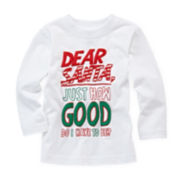 Okie Dokie® Long-Sleeve Graphic Knit Tee – Boys newborn-9m