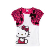 Hello Kitty® Cap-Sleeve Shrug and Tee – Girls 4-6x